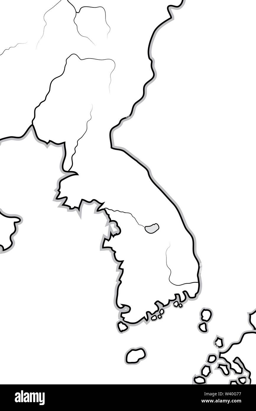 World Map of KOREA: Korea (endonym: Goryeo/Koryŏ), South ...
