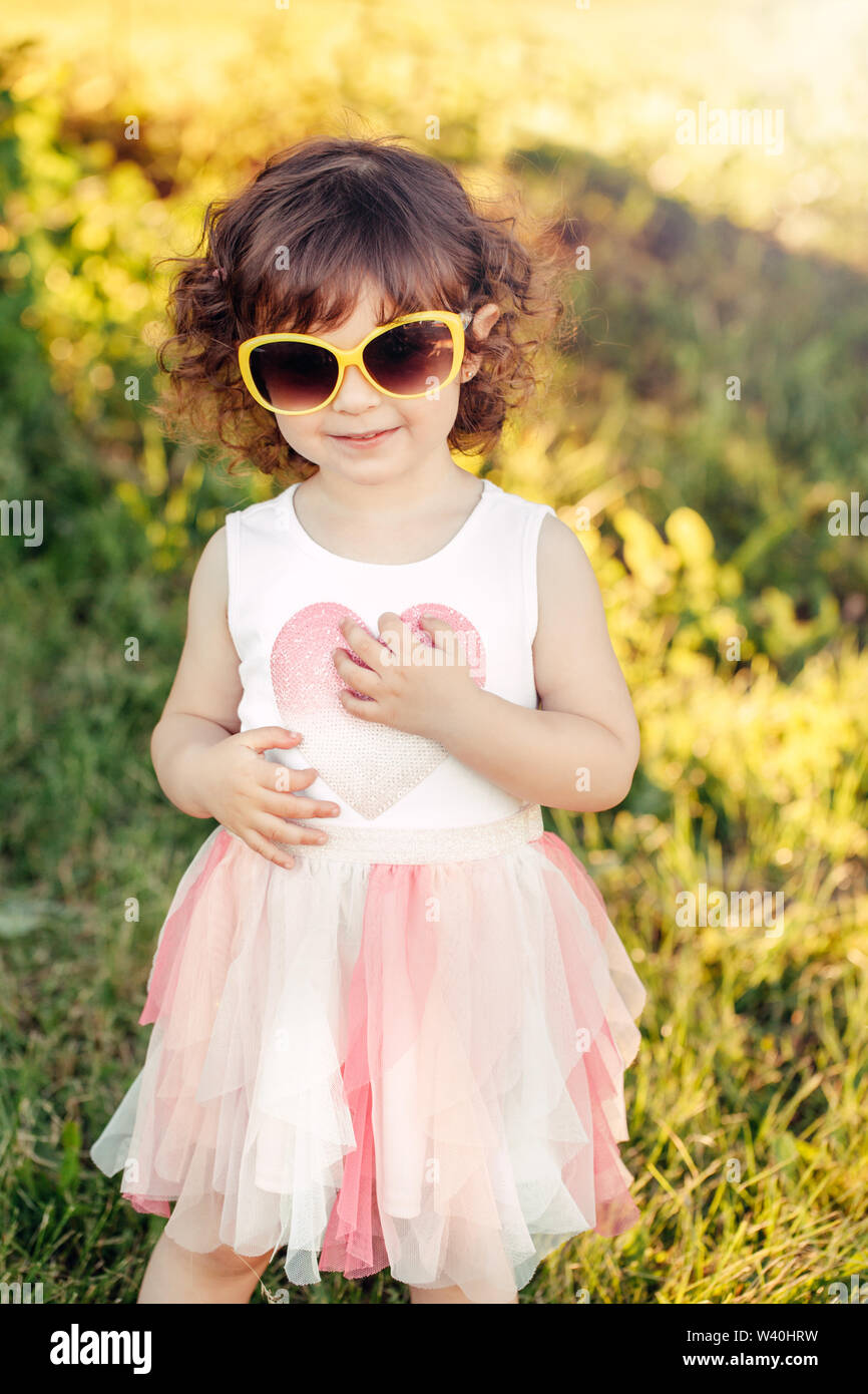 Cute Stylish Baby Girl Sunglasses High Resolution Stock
