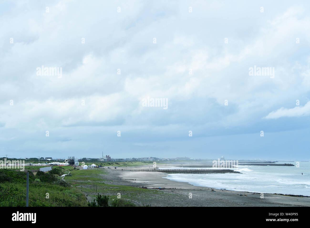 General view, JLUY 17, 2019 - Surfing : READY STEADY TOKYO - Surfing at Ichinomiya Shida Shita Point, Tsurigasaki beach in Chiba, Japan. Credit: MATSUO.K/AFLO SPORT/Alamy Live News - Stock Image