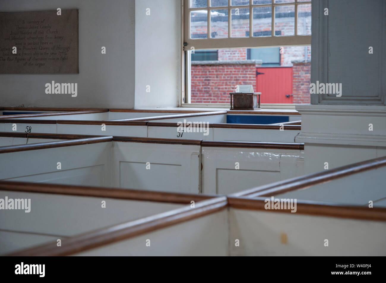 Old North Church interior, Boston Stock Photo