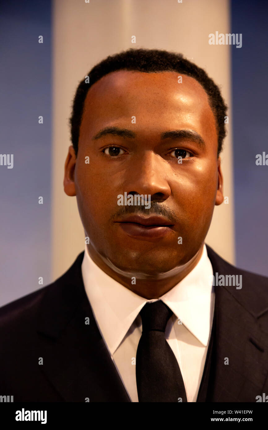Martin Luther King Jr. in Madame Tussauds of New York Stock Photo