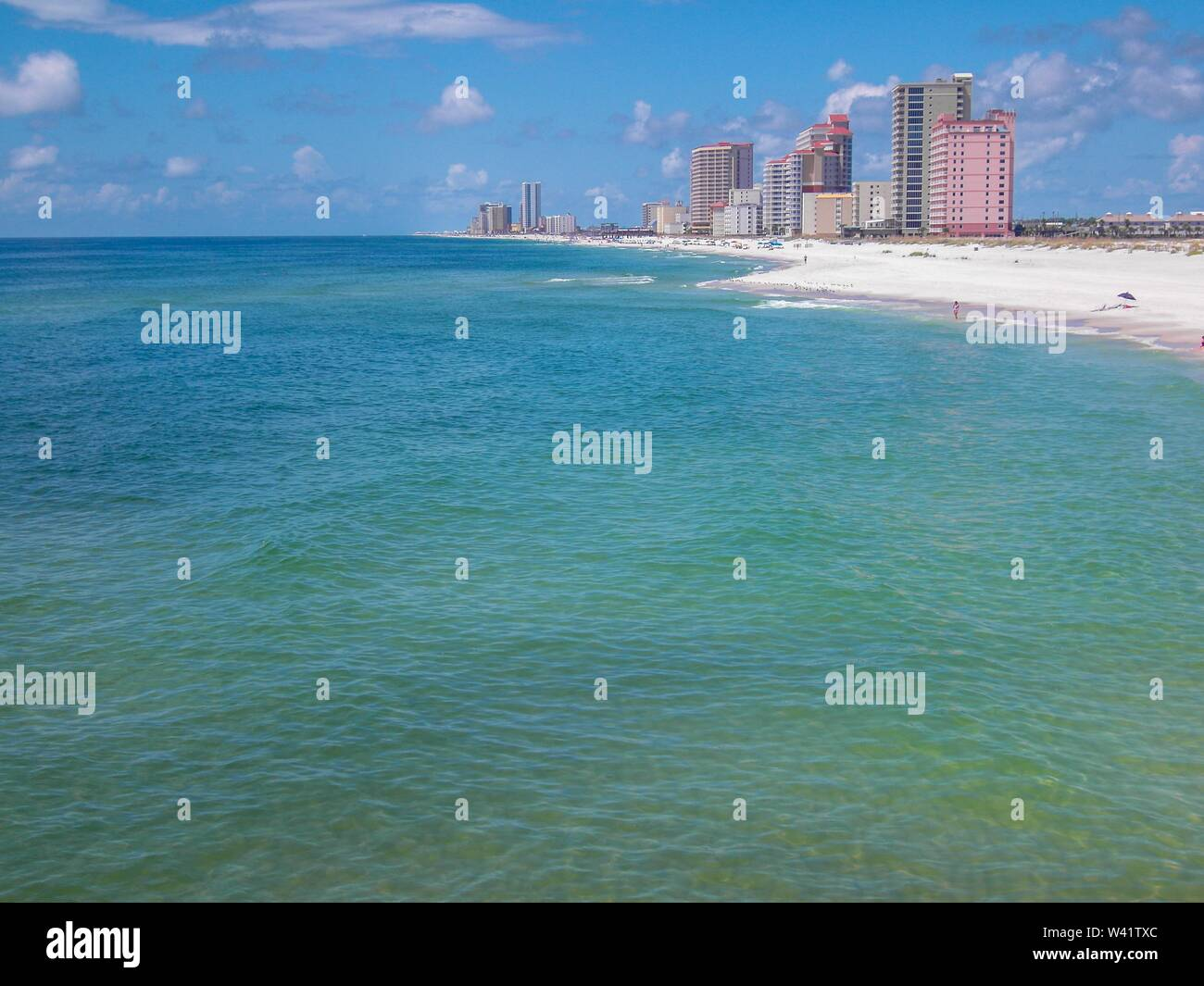 Gulf Shores Beach Stock Photo