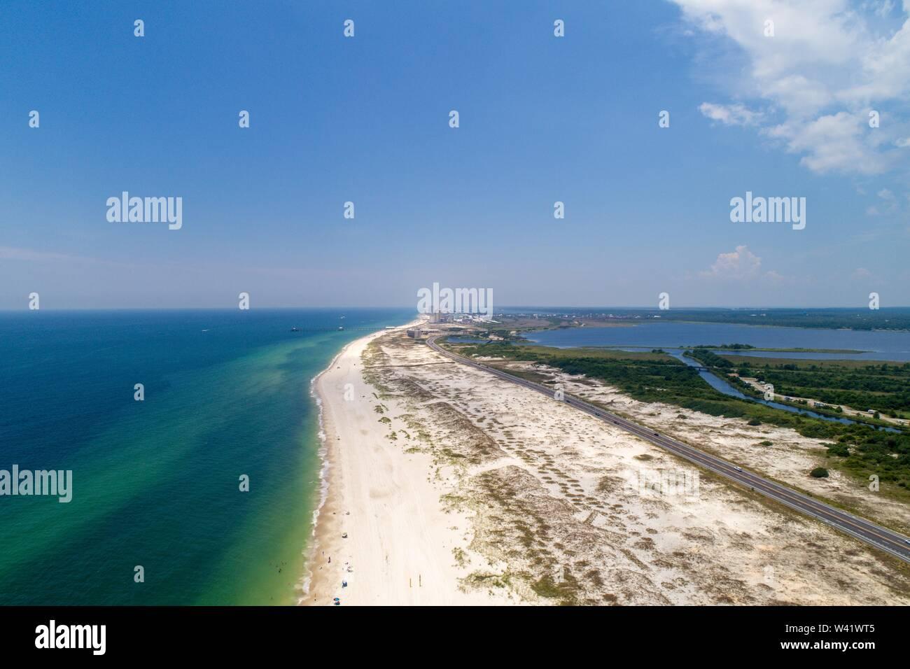 Gulf Shores Beach, Alabama Stock Photo