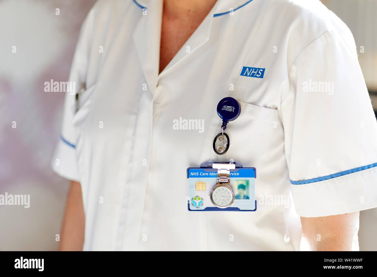 Close up of Nurse wearing uniform Stock Photo