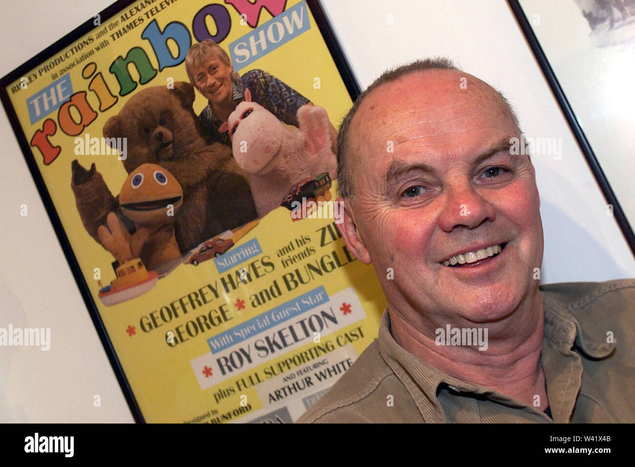The late Roy Skelton who was the voice of George and Zippy in the TV show Rainbow. Roy also wrote and directed some of the programmes. Roy also did many of the Dr Who voices including the Darleks. Roy retired to a seafront home in Brighton Stock Photo