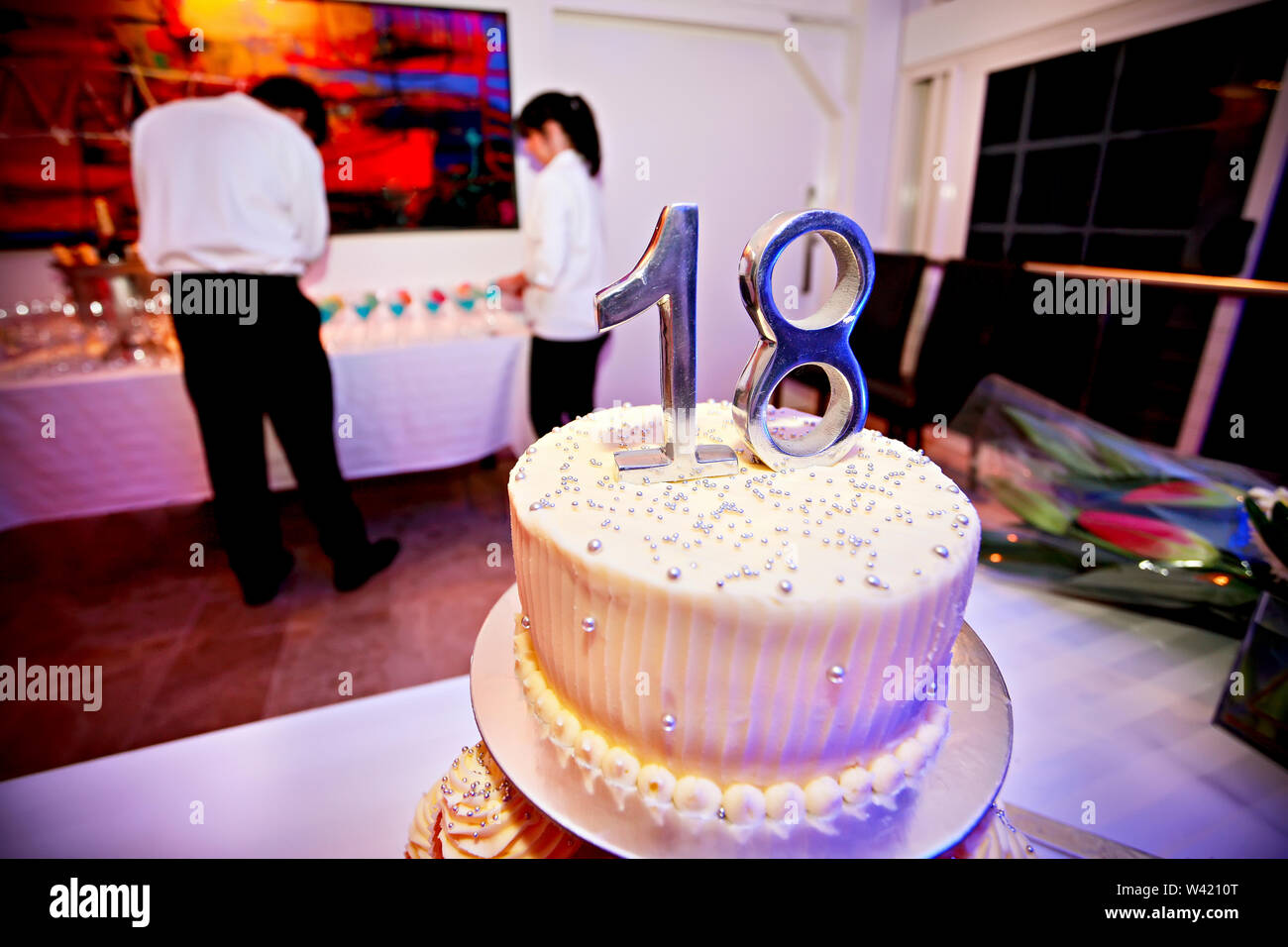 Admirable 18Th Birthday Cake Stock Photos 18Th Birthday Cake Stock Images Personalised Birthday Cards Veneteletsinfo