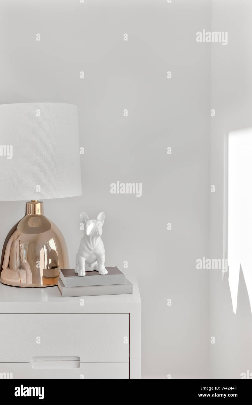 Luxury And Gold Color Table Lamp With A Dog Statue The Lamp
