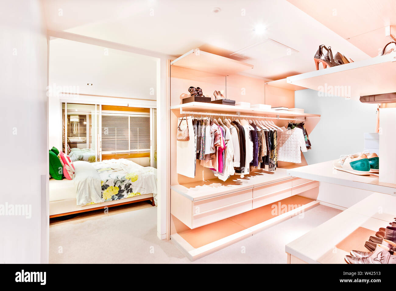 Attrayant Bedroom Attached To The Garment Store Room Of A House With ...