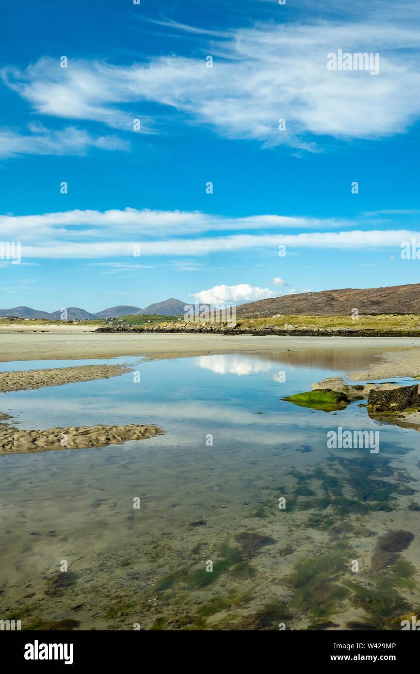 The Beach, Seilebost at Low Tide, West Harris, Scotland, uk Stock Photo
