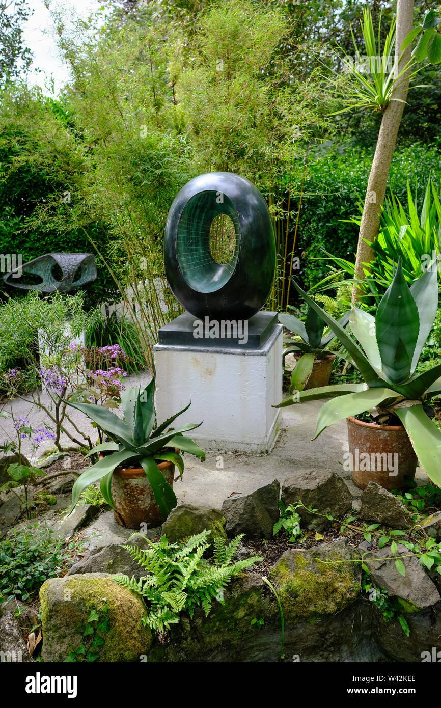 Sculptures In The Garden At The Barbara Hepworth Studios In St