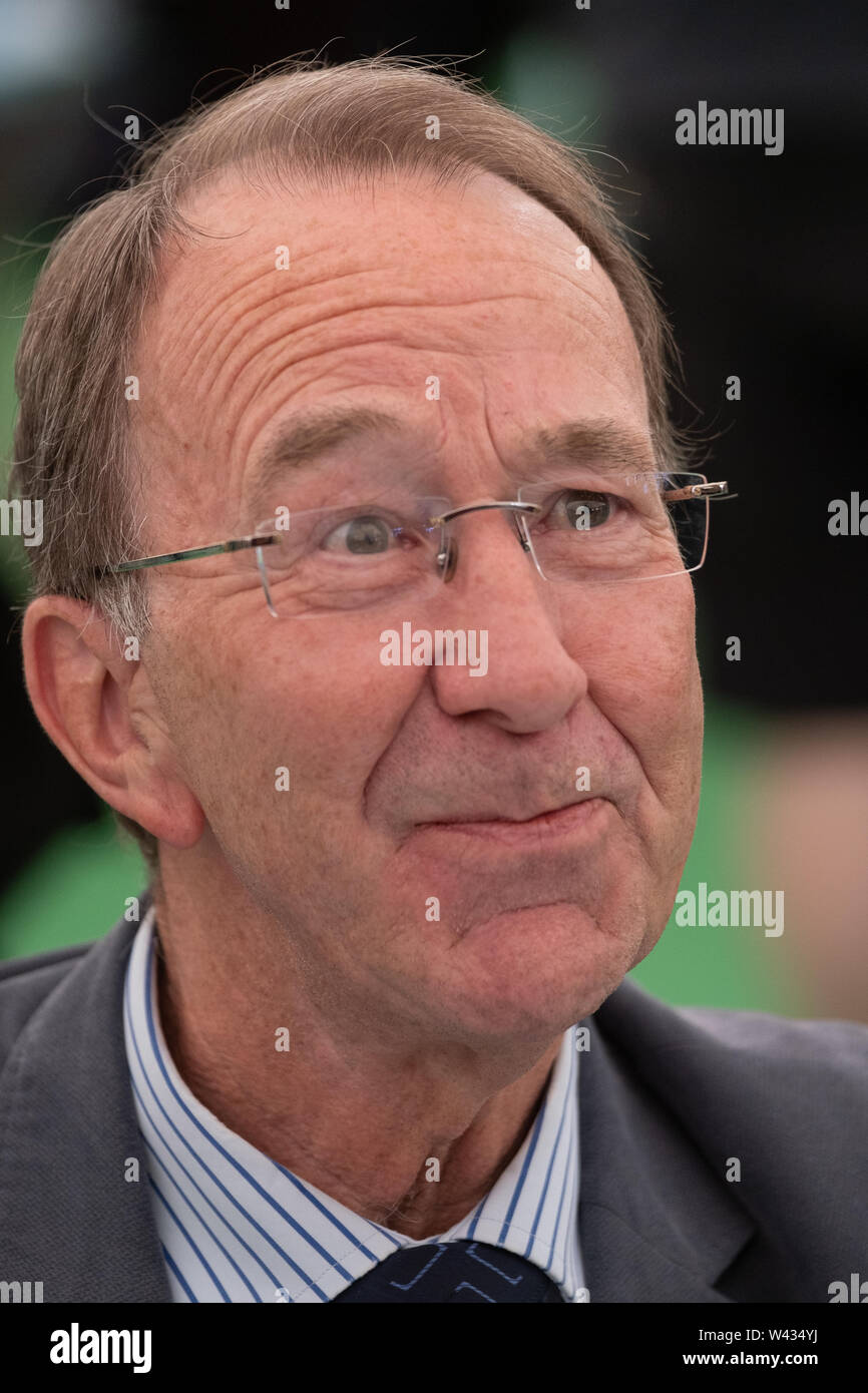 Ian Kershaw, English historian and author whose work has chiefly focused on the social history of 20th-century Germany. He is regarded by many as one of the world's leading experts on Adolf Hitler and Nazi Germany, and is particularly noted for his biographies of Hitler. Appearing at the  32nd annual Hay Festival of Literature and the Arts. - Stock Image