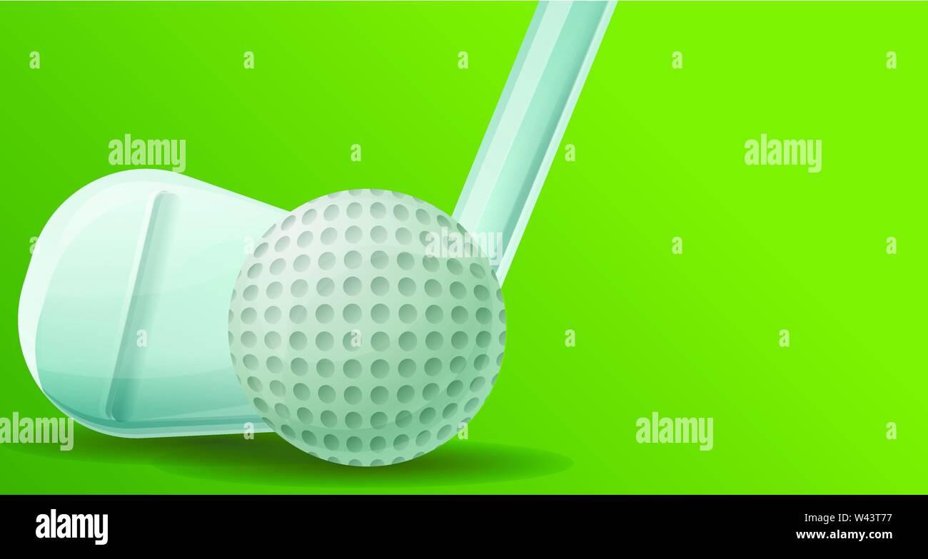 Golf Stick Ball Concept Banner Cartoon Illustration Of Golf Stick Ball Vector Concept Banner For Web Design Stock Vector Image Art Alamy