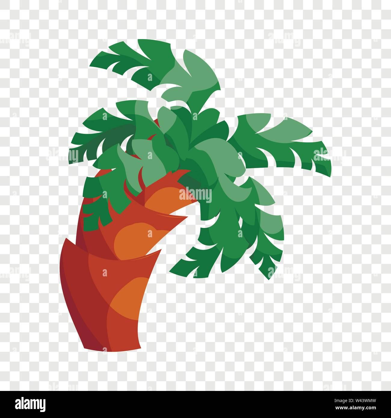 Palm tree icon, cartoon style - Stock Image
