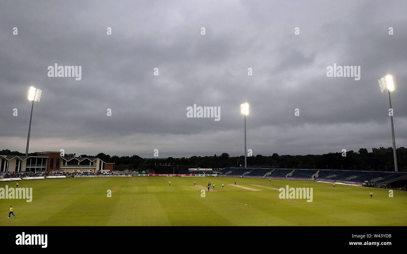 A general view of the Vitality Blast T20 match at Emirates Riverside, Durham. - Stock Image