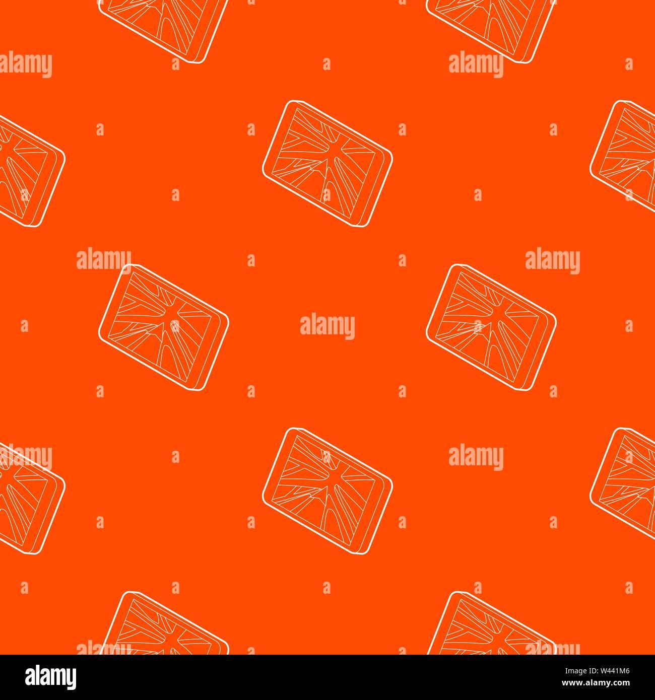 Navigator pattern vector orange - Stock Vector