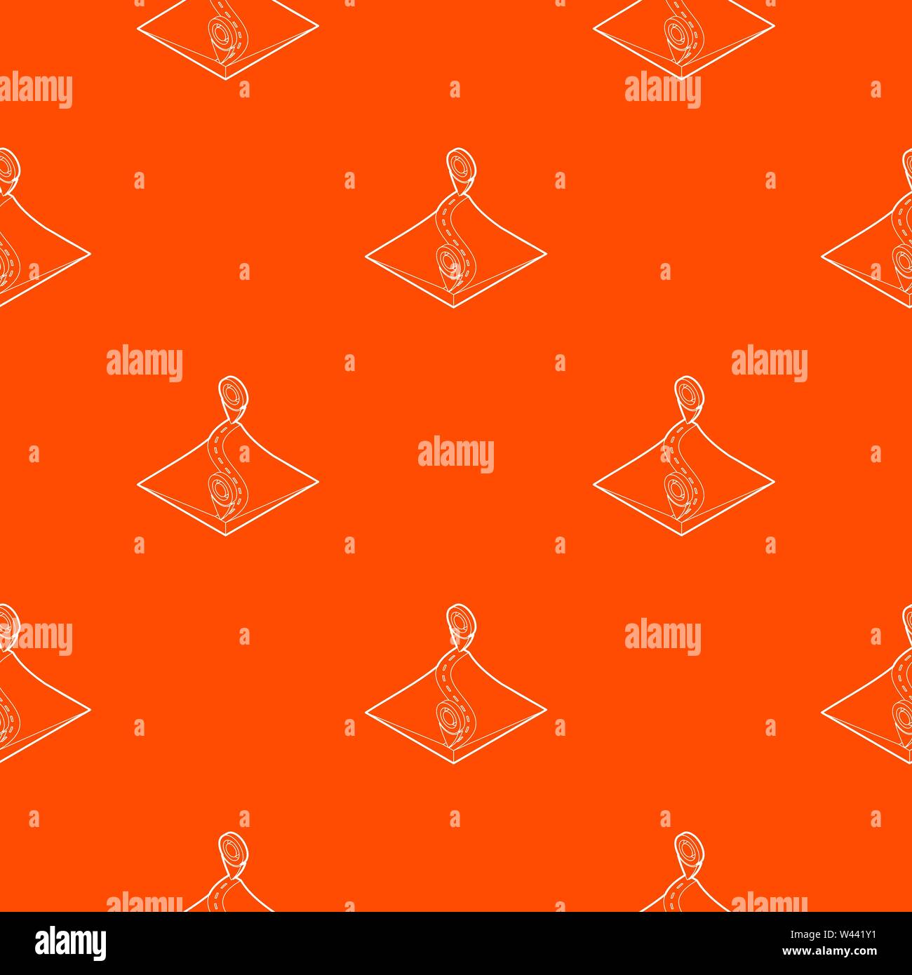 Route pattern vector orange - Stock Vector