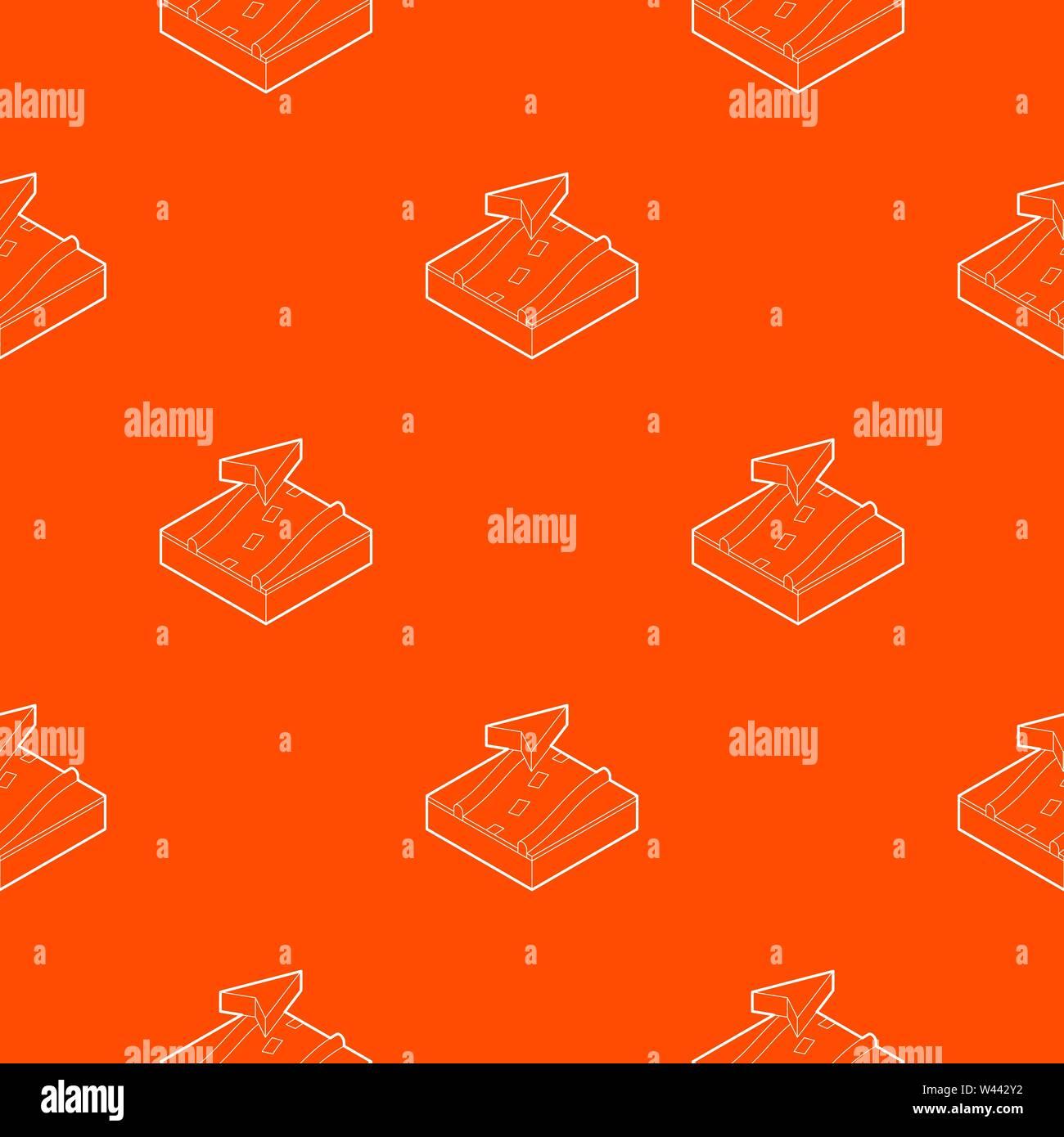 Navigation pattern vector orange - Stock Vector