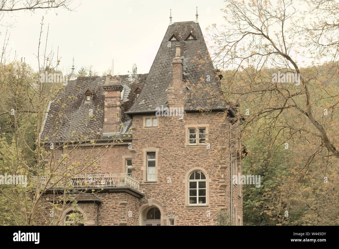 Scary cottage in the countryside (Germany, Europe) Stock Photo