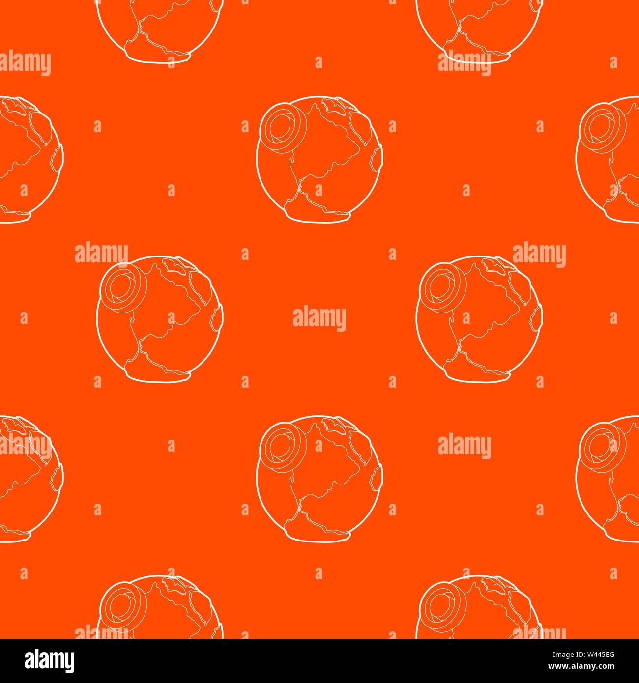 Earth pattern vector orange - Stock Vector