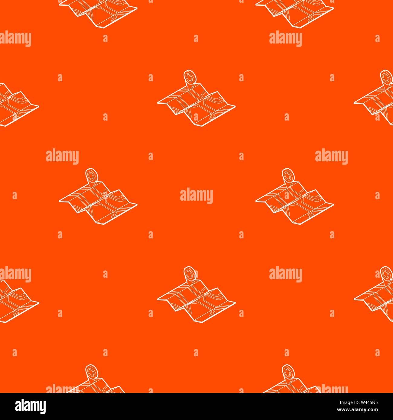 Map pattern vector orange - Stock Vector