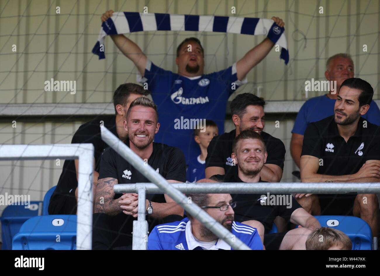 Lotte, Deutschland. 19th July, 2019. firo: 19.07.2019, football, 1.Bundesliga, season 2019/2020, friendly match, FC Schalke 04 - Norwich City goalkeeper Ralf FAHRMANN, Norwich at the Tribune | usage worldwide Credit: dpa/Alamy Live News - Stock Image
