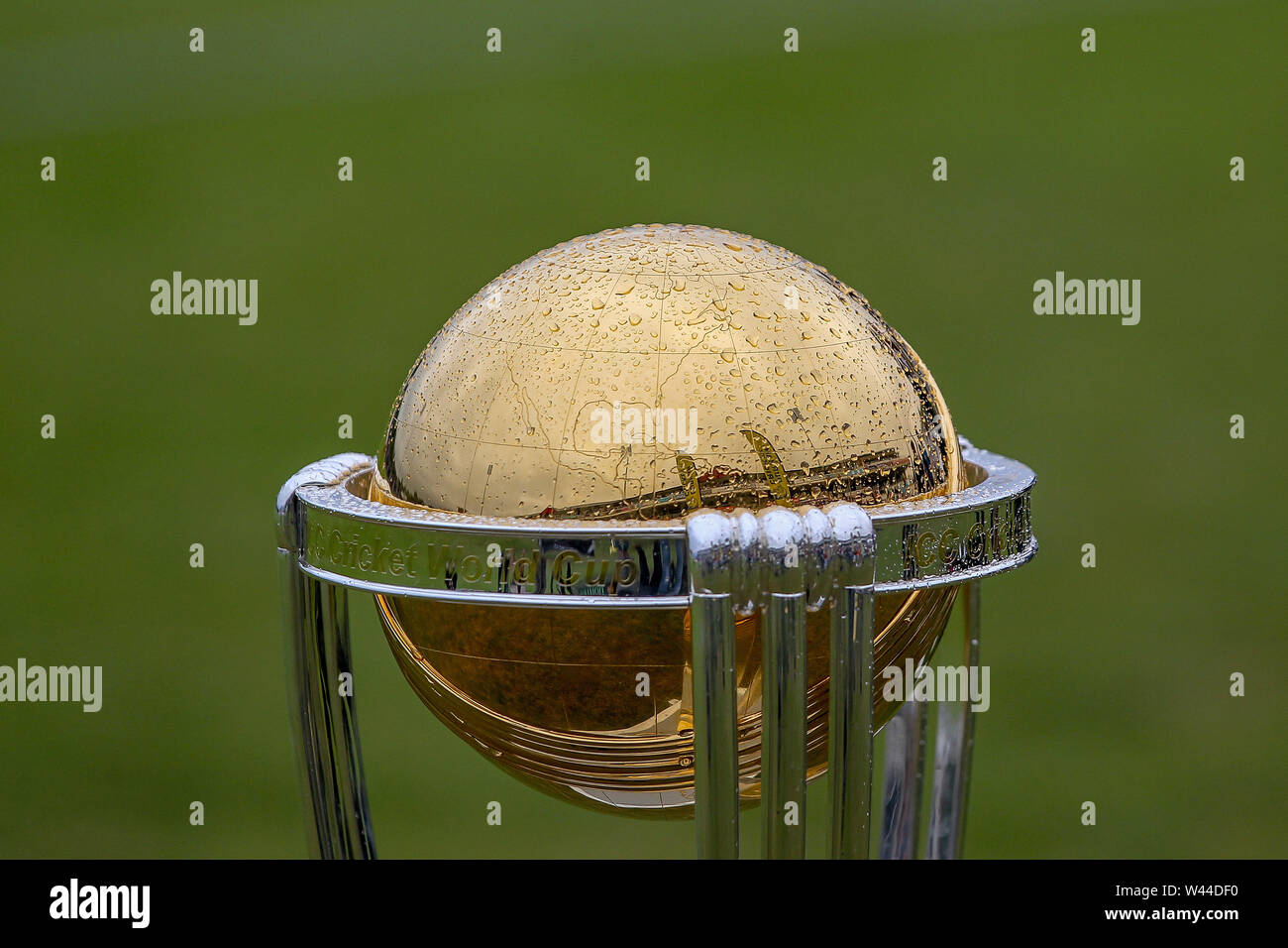 CHESTER LE STREET, ENGLAND. 19th July 2019. The Cricket World Cup during the Vitality T20 Blast match between Durham County Cricket Club and Northamptonshire County Cricket Club at Emirates Riverside, Chester le Street on Friday 19th July 2019. (Credit: Mark Fletcher   MI News ) Credit: MI News & Sport /Alamy Live News - Stock Image