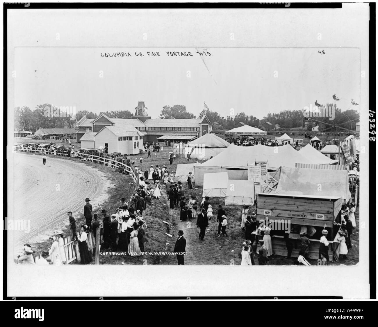 Columbia Co. Fair, Portage, Wis. - Stock Image