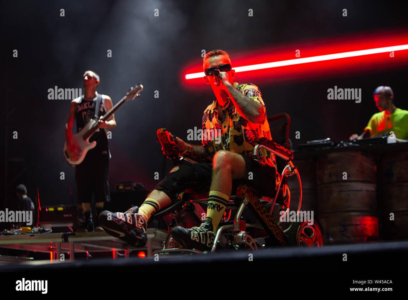 Barolo, Italy july 6th 2019 Salmo live at Collisioni Festival 2019 © Roberto Finizio / Alamy Stock Photo