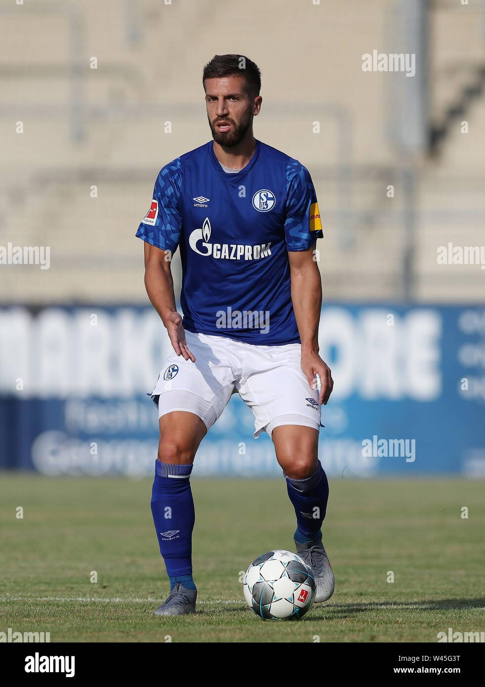 Lotte, Deutschland. 19th July, 2019. firo: 19.07.2019, football, 1.Bundesliga, season 2019/2020, friendly match, FC Schalke 04 - Norwich City Matija NASTASIC, Schalke, single action | usage worldwide Credit: dpa/Alamy Live News - Stock Image