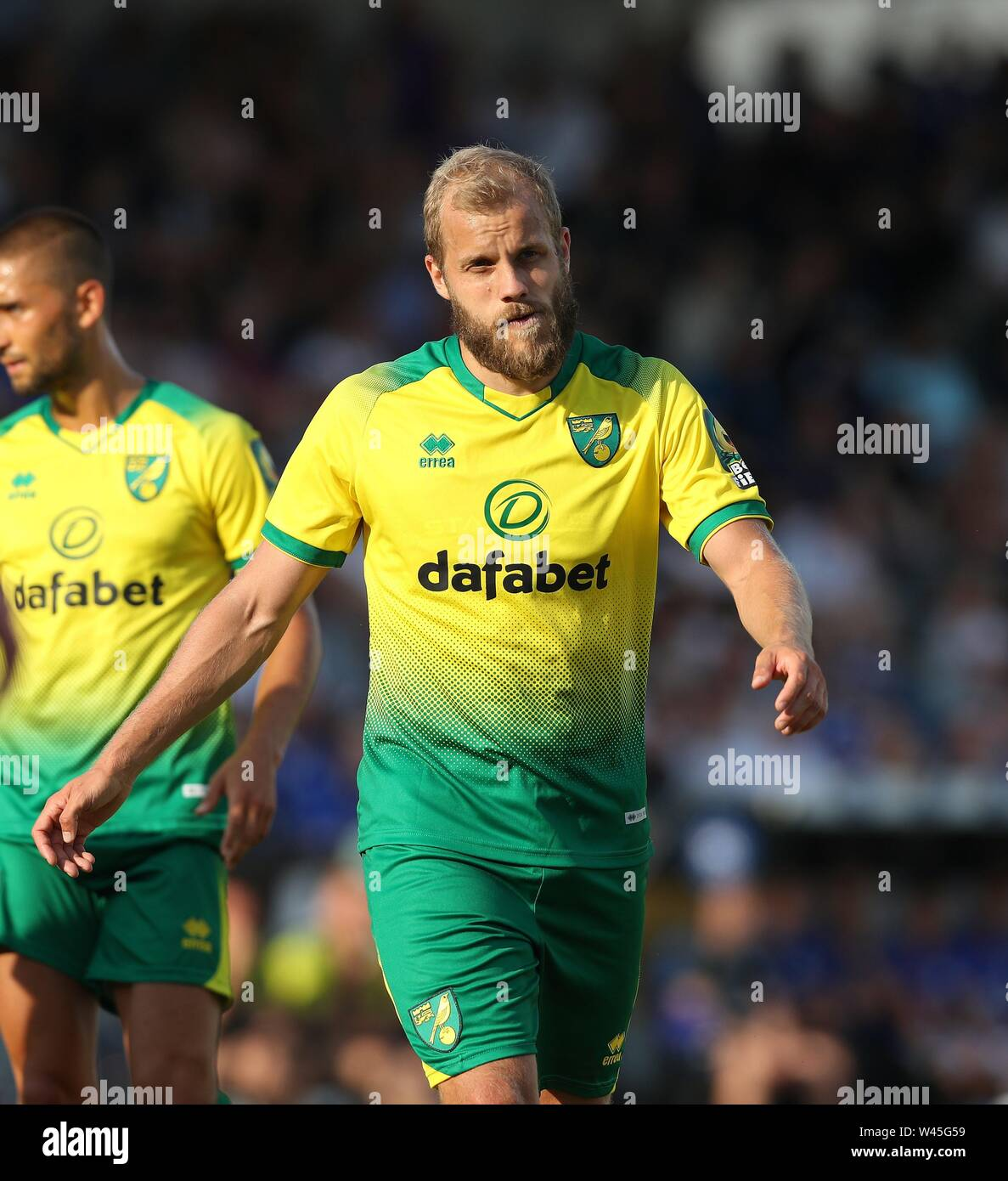 Lotte, Deutschland. 19th July, 2019. firo: 19.07.2019, football, 1.Bundesliga, season 2019/2020, friendly match, FC Schalke 04 - Norwich City Teemu PUKKI, Norwich, half figure | usage worldwide Credit: dpa/Alamy Live News - Stock Image
