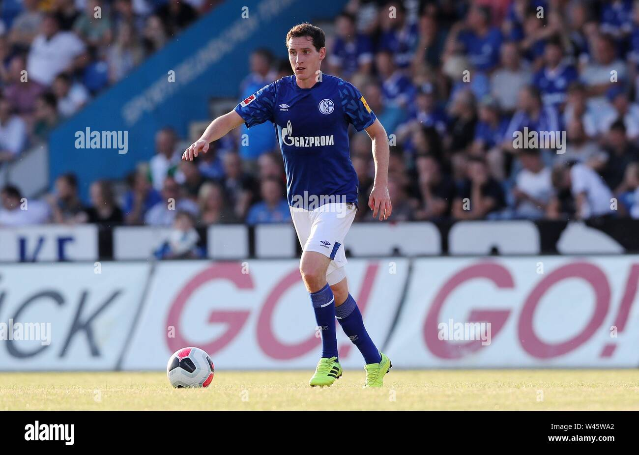 Lotte, Deutschland. 19th July, 2019. firo: 19.07.2019, football, 1.Bundesliga, season 2019/2020, friendly match, FC Schalke 04 - Norwich City Sebastian RUDY, Schalke, single action | usage worldwide Credit: dpa/Alamy Live News - Stock Image
