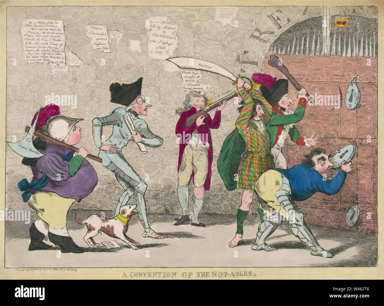 Convention of the Not-ables, 1787. - Stock Image