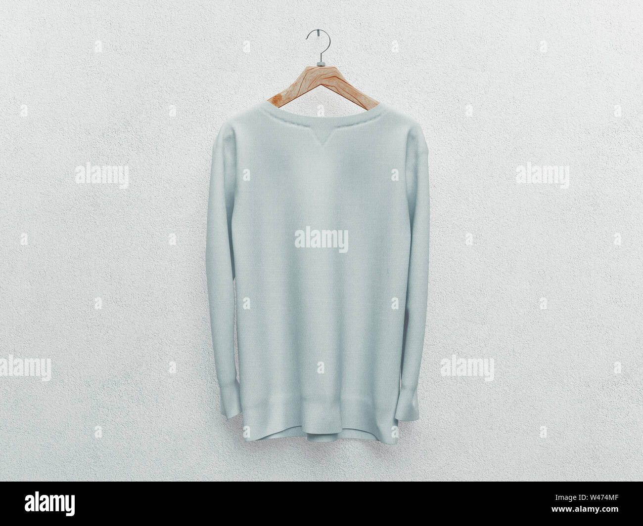 e45e93750 Set of isolated white t-shirt or realistic apparel. 3d rendering ...