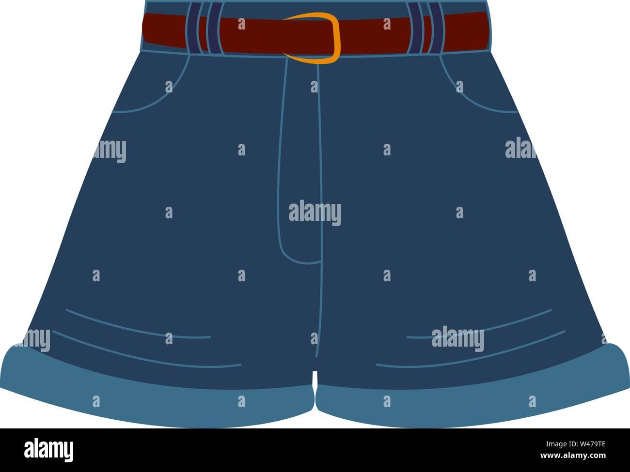 Texas shorts, illustration, vector on white background. Stock Vector
