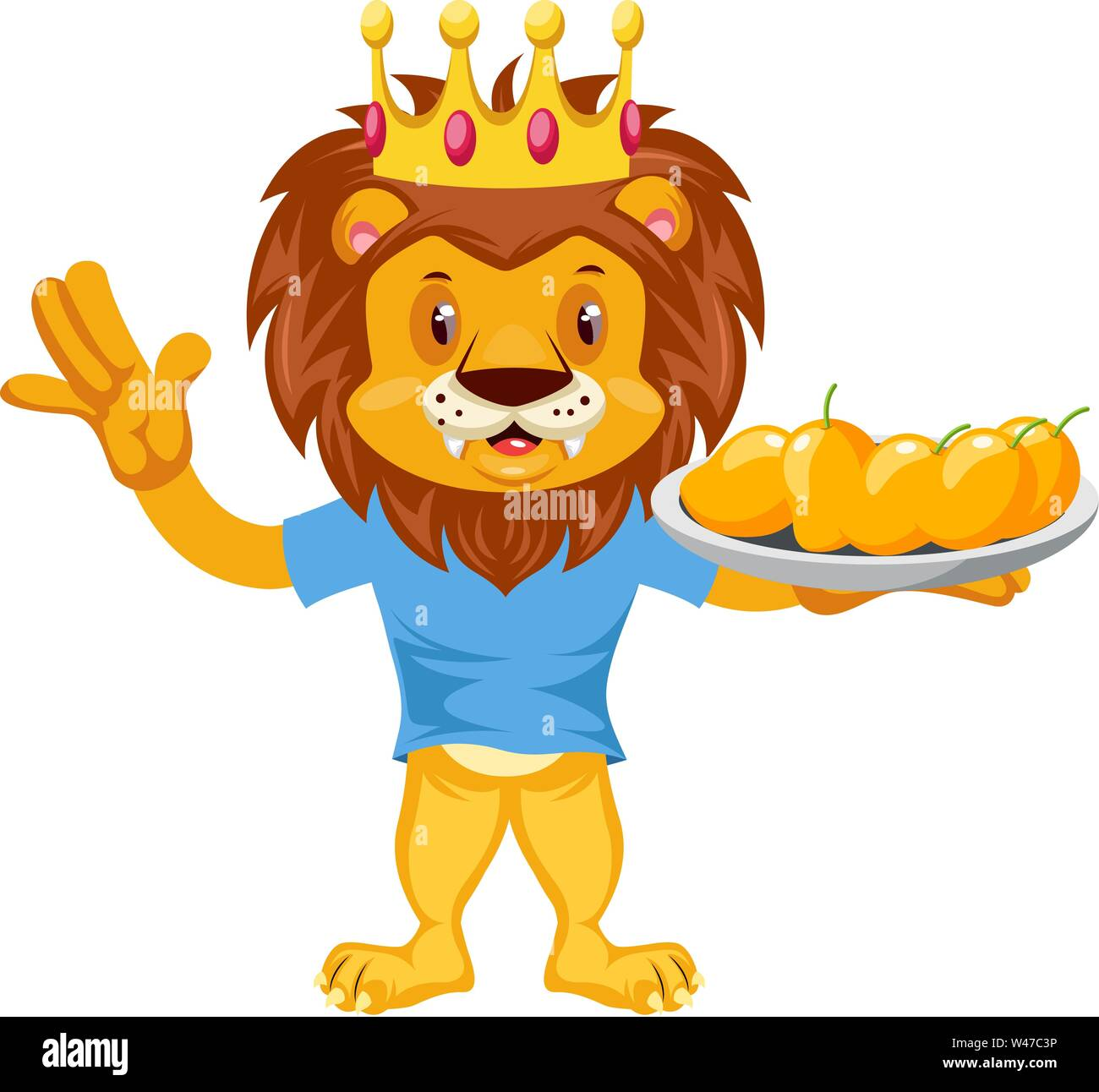 Lion With Mangos Illustration Vector On White Background Stock Vector Image Art Alamy Download a free preview or high quality adobe illustrator ai, eps, pdf and high resolution jpeg versions. alamy