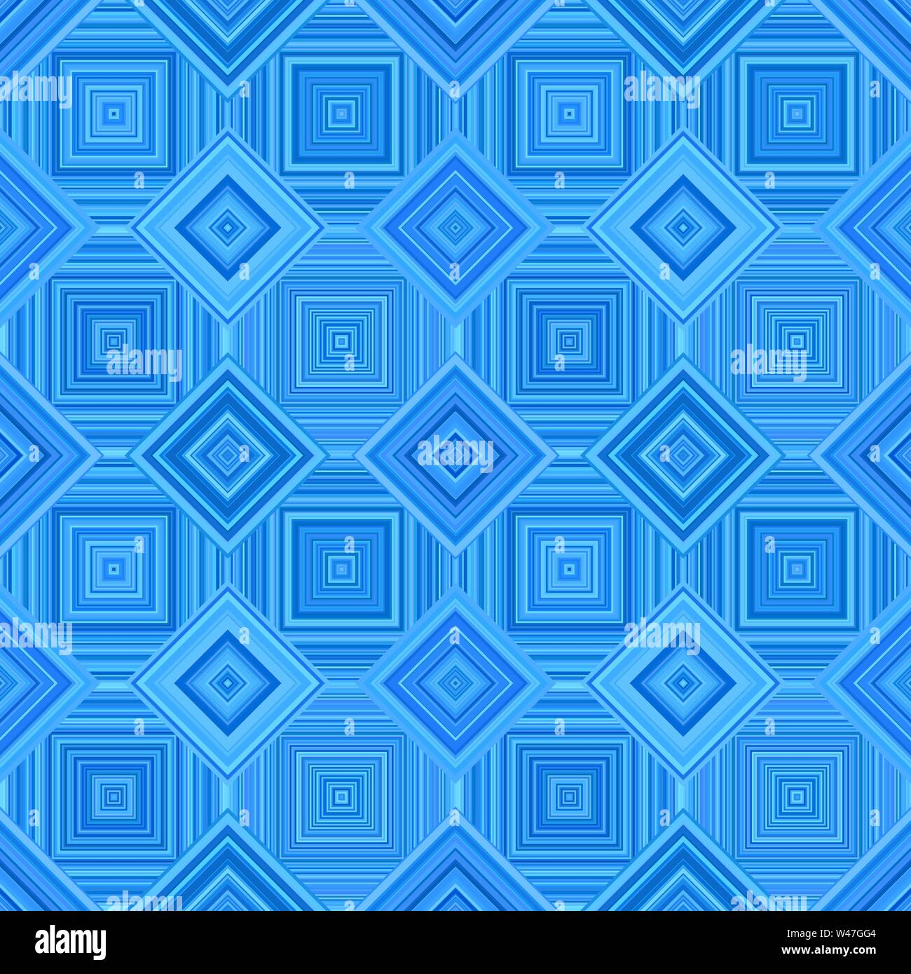 Blue abstract geometric diagonal square mosaic tile pattern background - repeatable graphic design Stock Vector