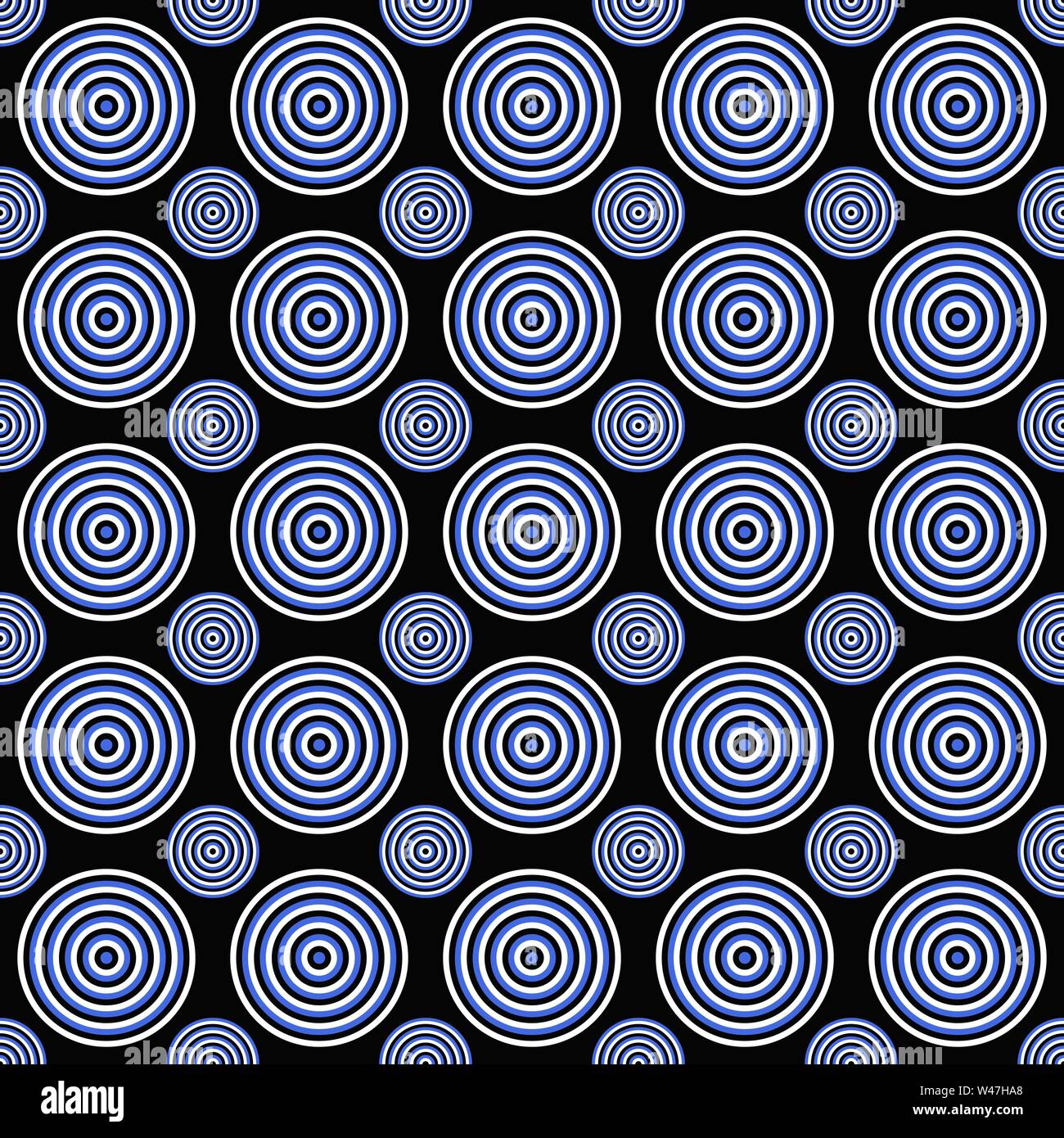 Abstract geometrical seamless pattern - vector circle design background - Stock Image