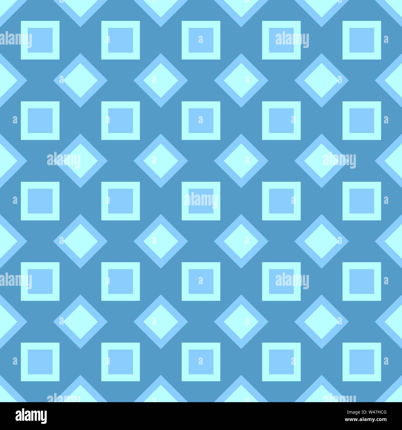 Abstract seamless pattern - vector square design background - Stock Image