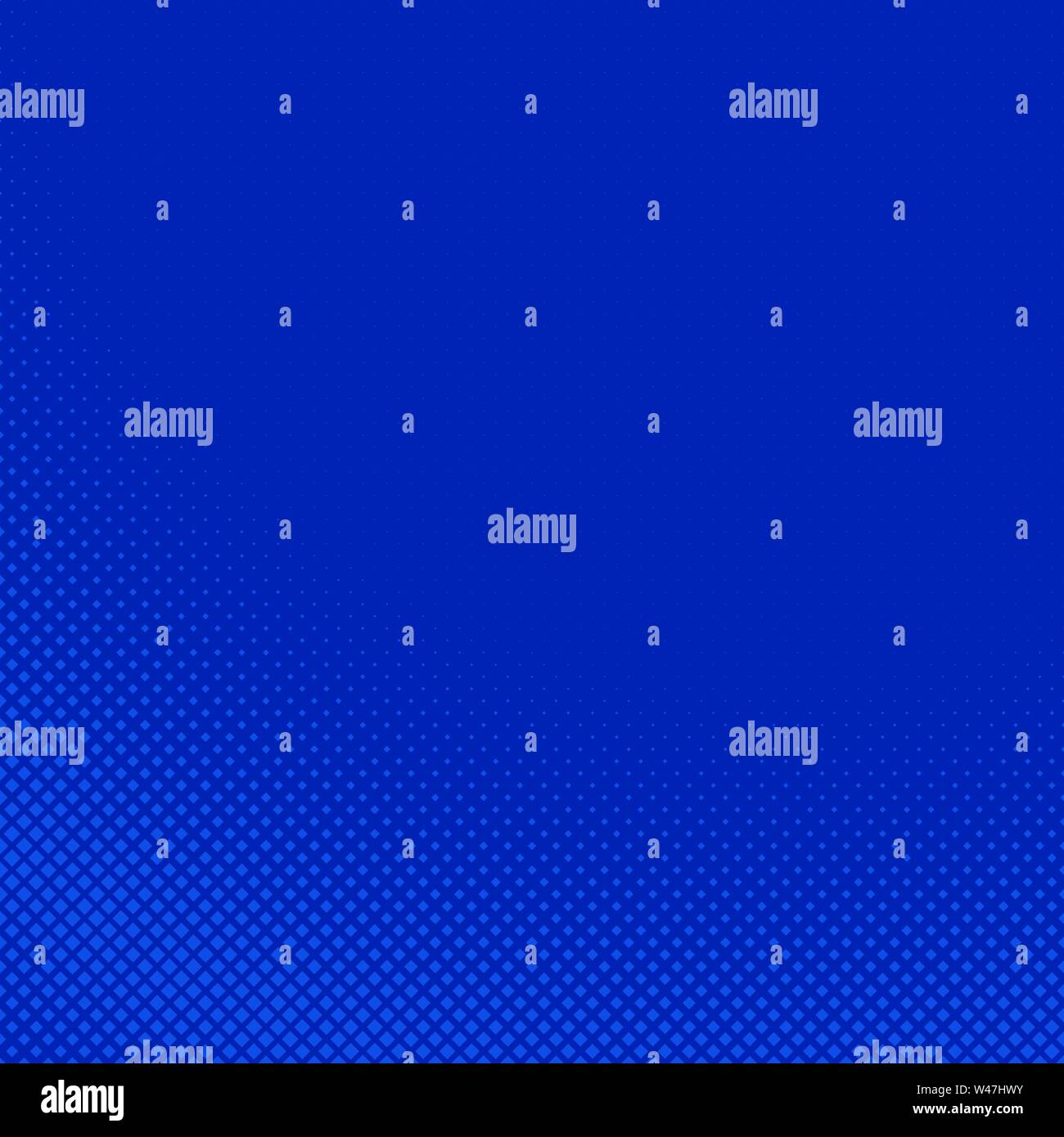 Blue abstract halftone square pattern background - vector graphic design - Stock Image