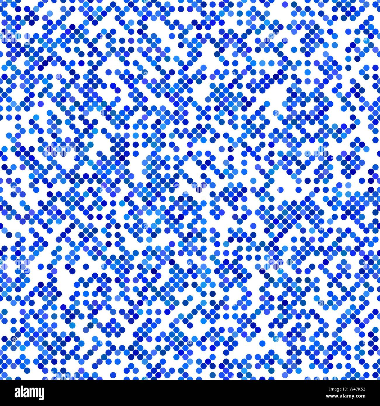 Blue seamless dot pattern background - abstract vector graphic design - Stock Image