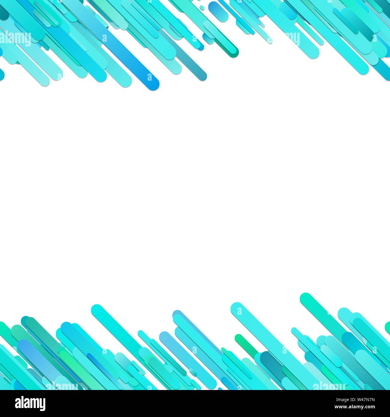 Trendy gradient background with seamless diagonal rounded stripe pattern - vector graphic design Stock Vector