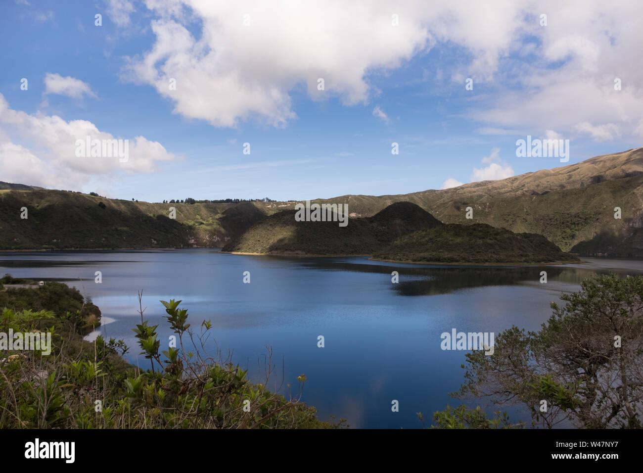 The Cuicocha Lake (Guinea Pig Lake) Stock Photo
