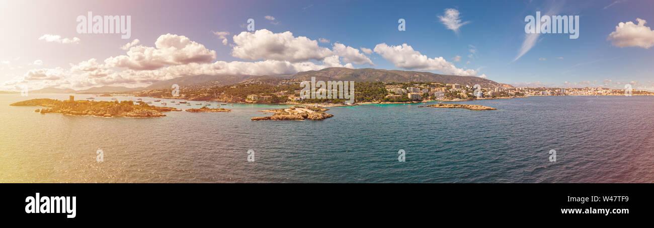 Panoramic landscape of Palma de Mallorca, Balearic Islands, Spain Stock Photo