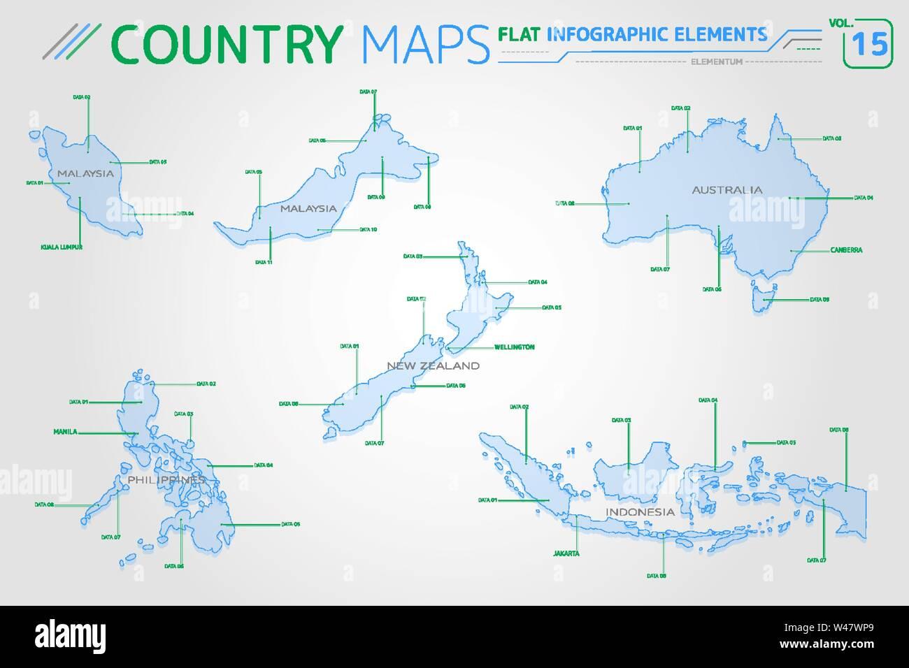 Malaysia Indonesia Australia New Zealand And Philippines