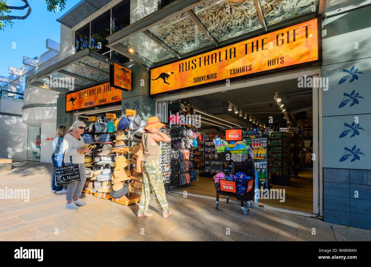 Exterior of Australia The Gift shop in popular touristic Hastings Street, Noosa Heads, Sunshine Coast, Queensland, QLD, Australia Stock Photo