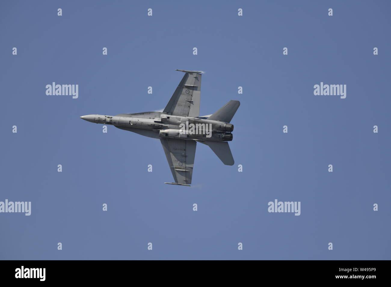 McDonnell Douglas F/A-18 Hornet Fighter Jet - RAAF Royal Australian Air-force Stock Photo