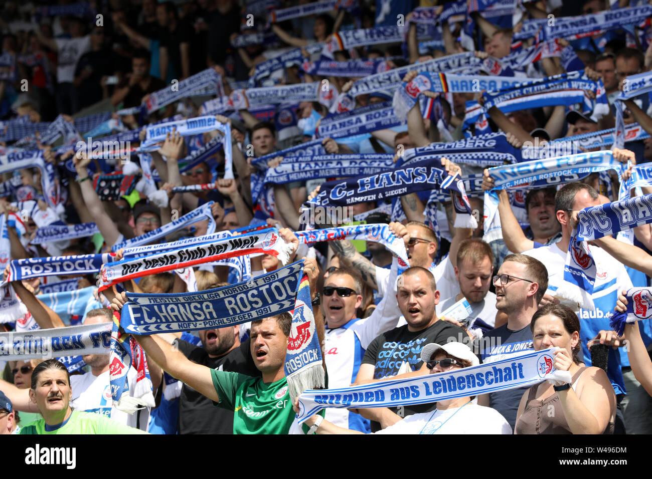 Rostock Germany 20th July 2019 Soccer 3rd League 1st Matchday Fc Hansa Rostock Viktoria Koln In