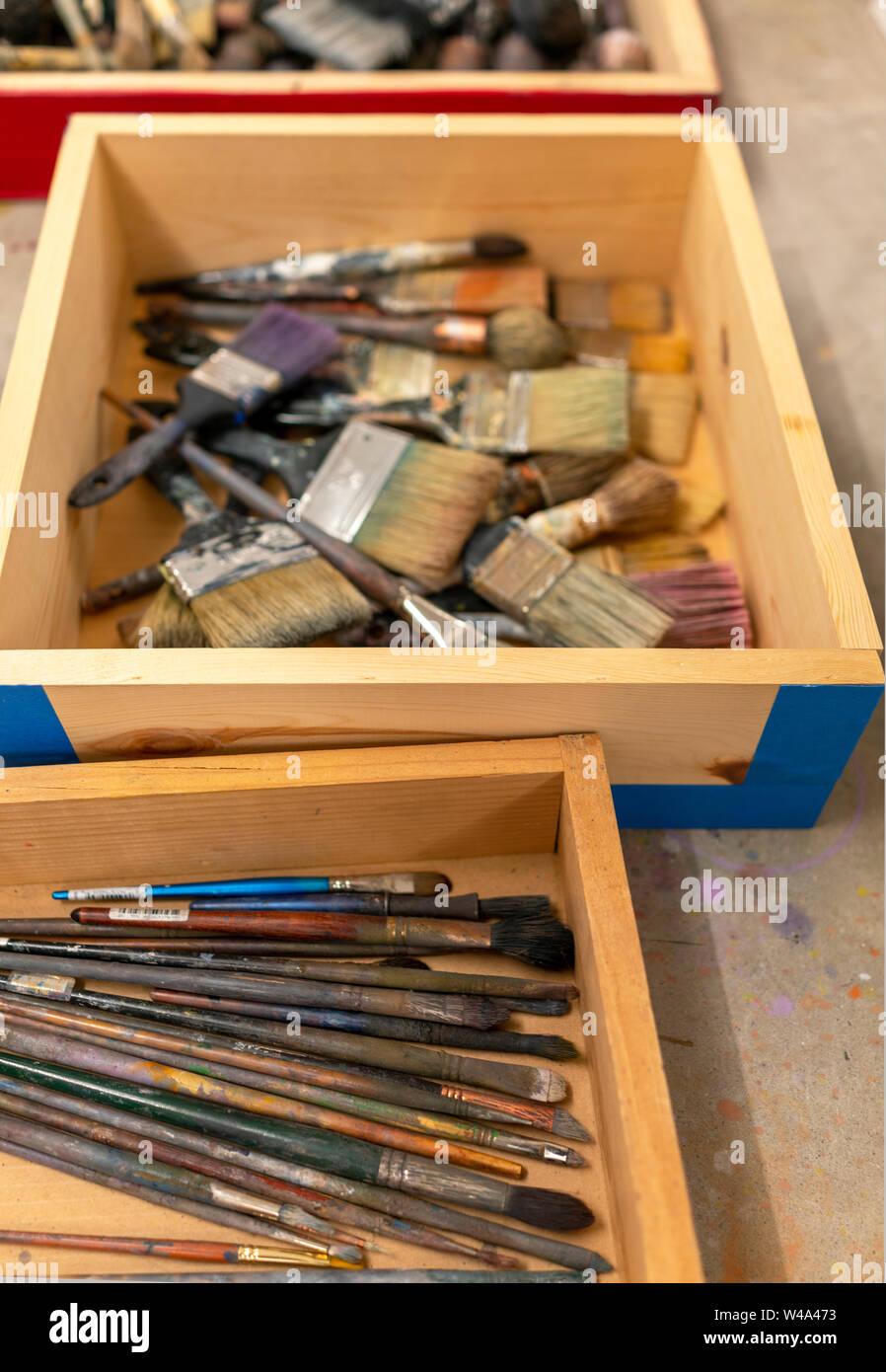 Artist Studio Tools Stock Photo Alamy