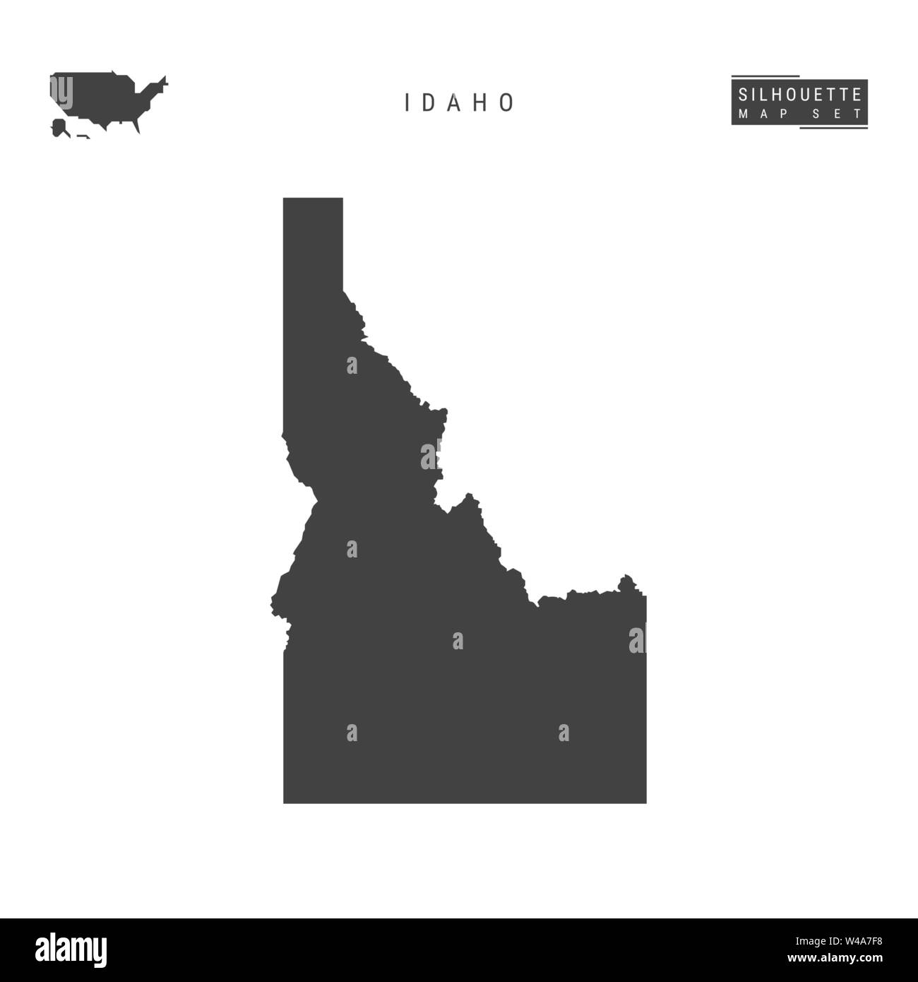 Idaho US State Blank Vector Map Isolated on White Background ...