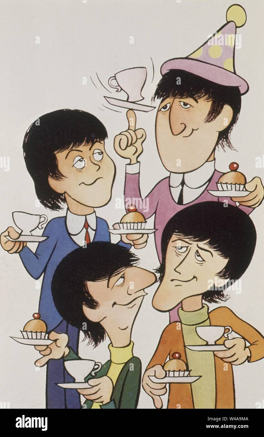 Dibujo Caricatura Los Beatles The Beatles John Lennon Paul Mccartney Ringo Starr George Harrison Stock Photo Alamy
